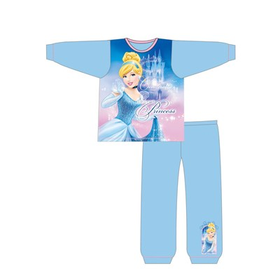 Girls Toddler Cartoon Character Cinderella Long Sleeve Pyjama Set