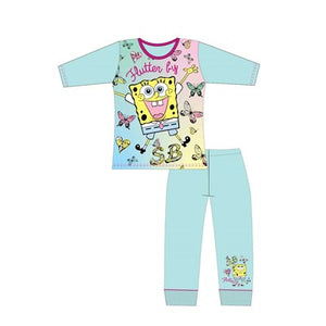 Girls Cartoon Character Sponge Bob Long Sleeve Pyjama Set