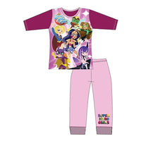 Girls Cartoon Character DC Superheros Long Sleeve Pyjama Set