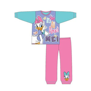 Girls Toddler Cartoon Character Daisy Duck Long Sleeve Pyjama Set