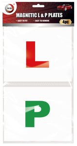 4pc magnetic l & p plates Colour: Red,green Size: One Size