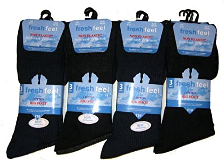 Mens 100% Cotton Non Elastic Socks