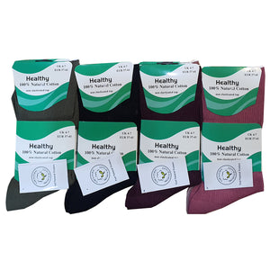 Ladies 100% Cotton Non Elastic Top Diabetic Socks