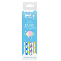 40 pc Paper Straws Stripe Coloured