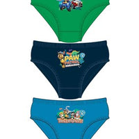 Boys Paw Patrol Licenced Character 3pk Briefs