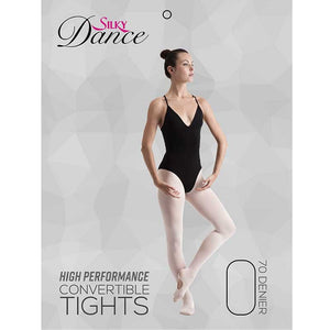 Ladies High Performance Convertible Ballet Tights - Adults