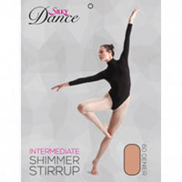 Ladies Dance Shimmer Stirrup Tights - Adults