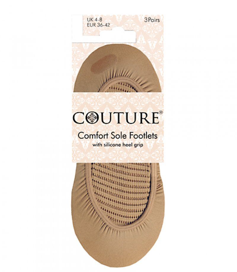 Ladies Couture Comfort Sole Footlets 3pp