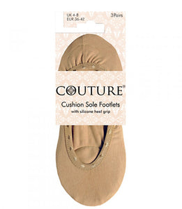 Ladies Couture Cushion Sole Footlets 3pp