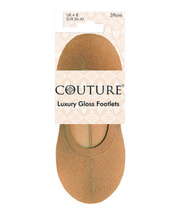 Ladies Couture Luxury Gloss Footlets 3pp