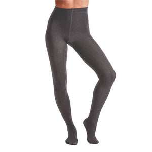 Ladies Fashion Cable Fleece Tights