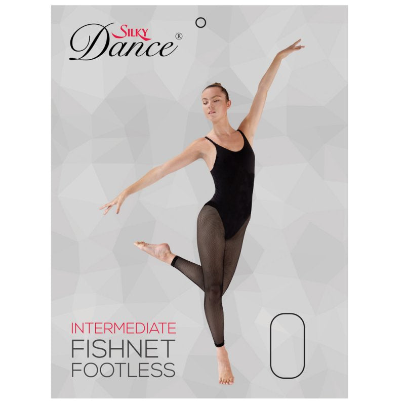 Ladies Dance Fishnet Footless Tights