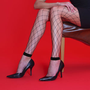 Ladies Whale Net Footless Tights