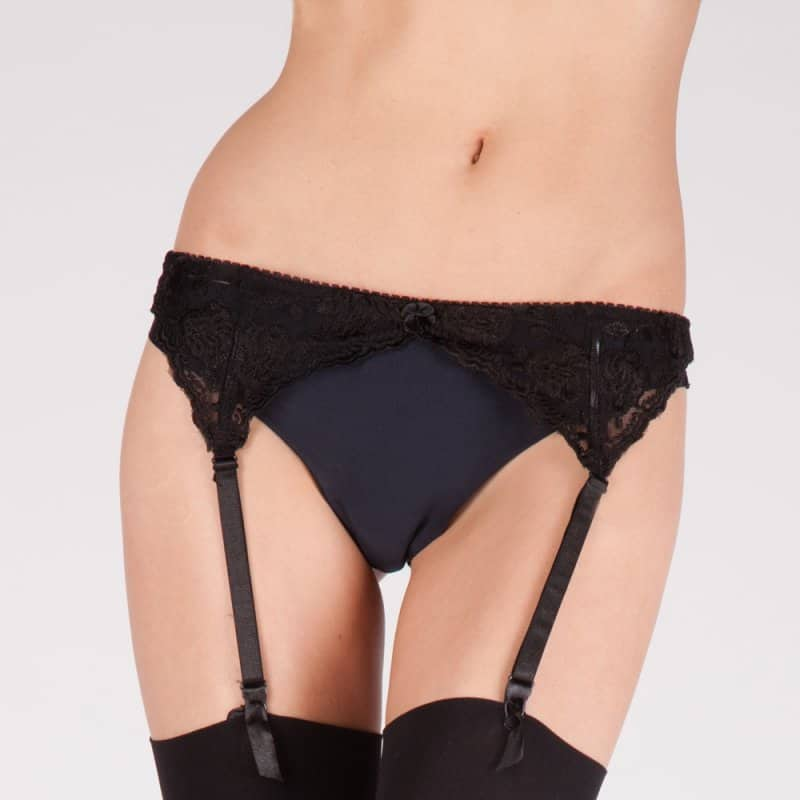Ladies Narrow Lace Suspender Belts