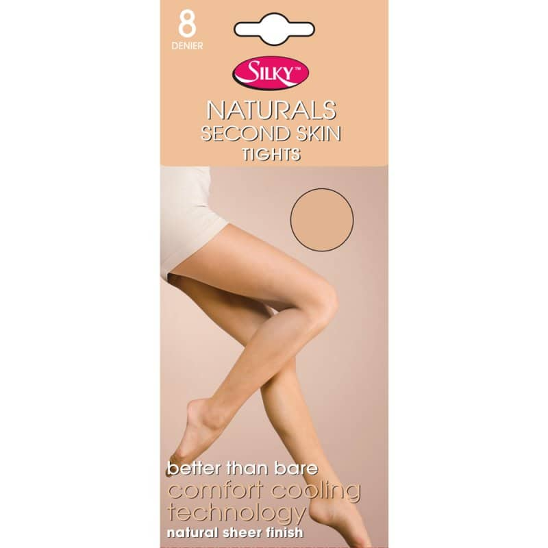 Ladies Naturals Second Skin Tights 8 Denier