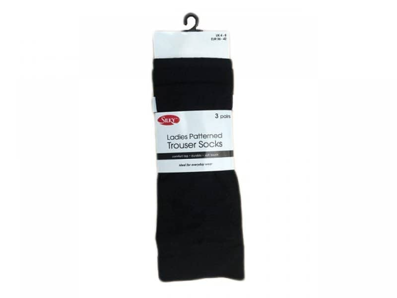 Ladies Patterned Trouser Sock 3pp