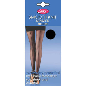 Ladies Smooth Knit Seamer Tights