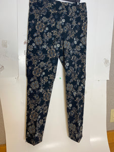 Midnight Floral Black Pull On Pant
