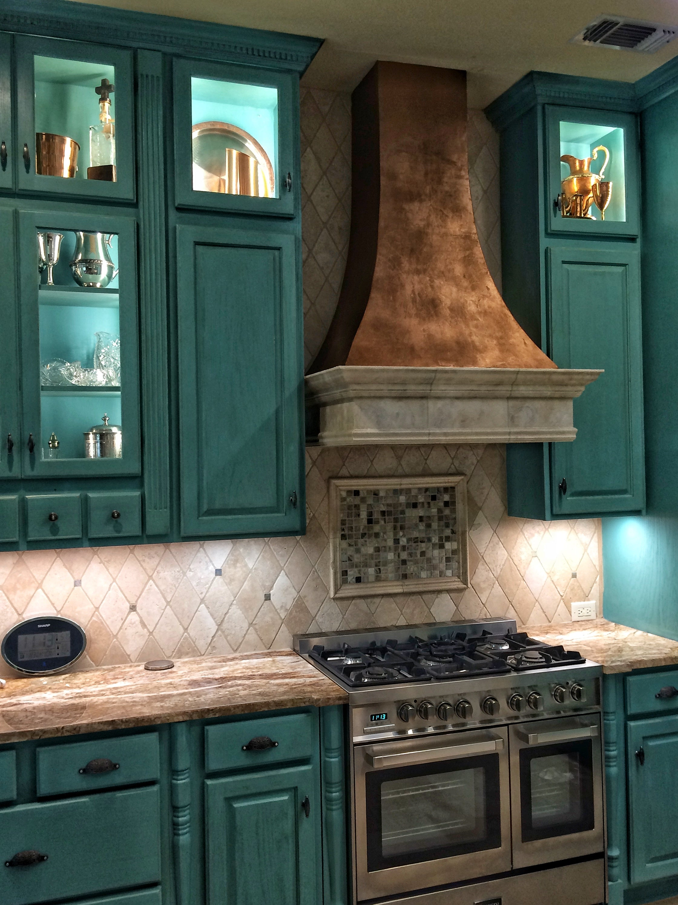 Custom Cabinetry and Stove Hood