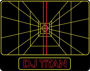"DJ TITAN ""Stay on Target"" STICKER"