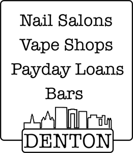 """Denton's Backbone"" Sticker 3""x3"" - DentoneShirts"
