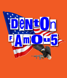 """Denton Famous"" Sticker 3""x3"" - DentoneShirts"