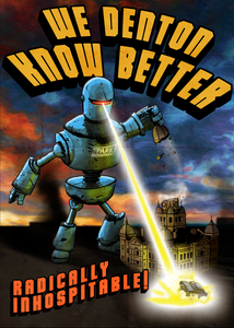 """We Denton Know"" Sticker 3.25""x2.25"" - DentoneShirts"