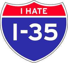 "Load image into Gallery viewer, ""I Hate I-35"" Shirt - DentoneShirts"