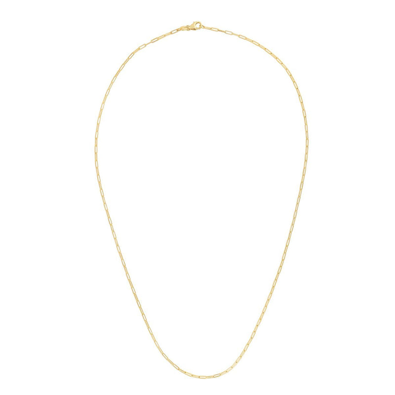 14K Gold 1.5mm Paperclip Chain Necklace - Phillip Gavriel