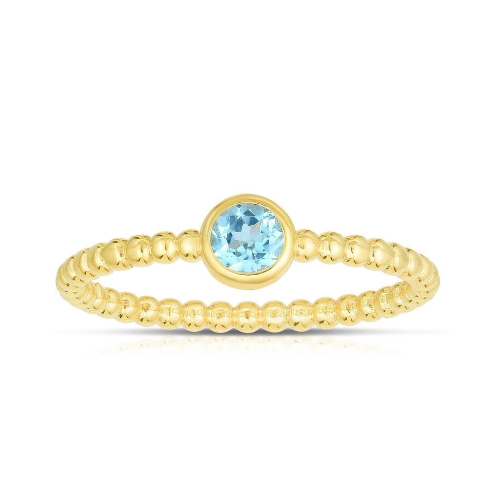 14K Gold Popcorn Gemstone Ring - Phillip Gavriel