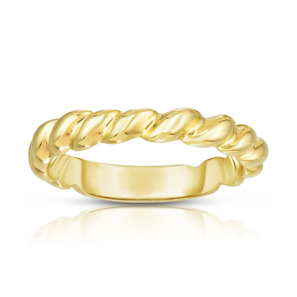 14K Gold Thin Twisted Band - Phillip Gavriel