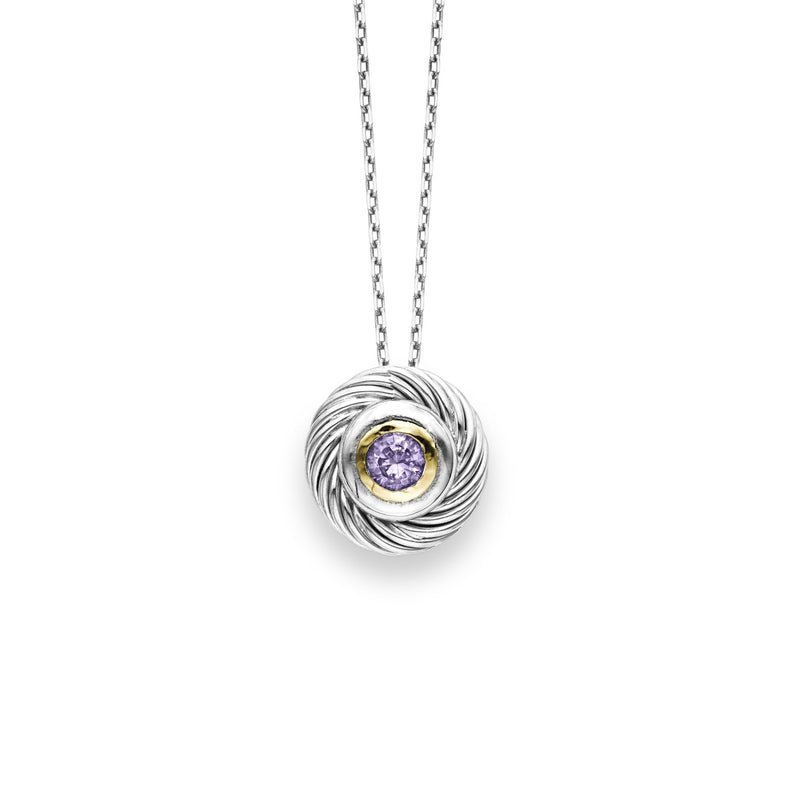 18K & Silver Amethyst Necklace