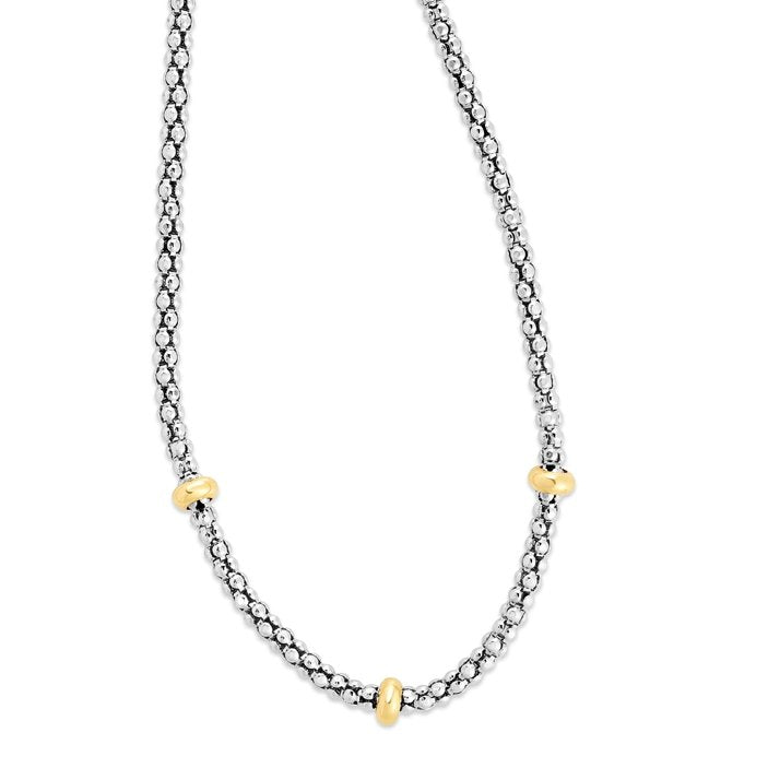Popcorn Yellow Station Necklace - Phillip Gavriel