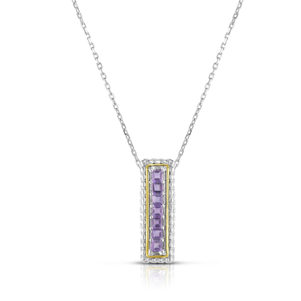 Sterling Silver & 18K Gold Bar Pendant - Phillip Gavriel