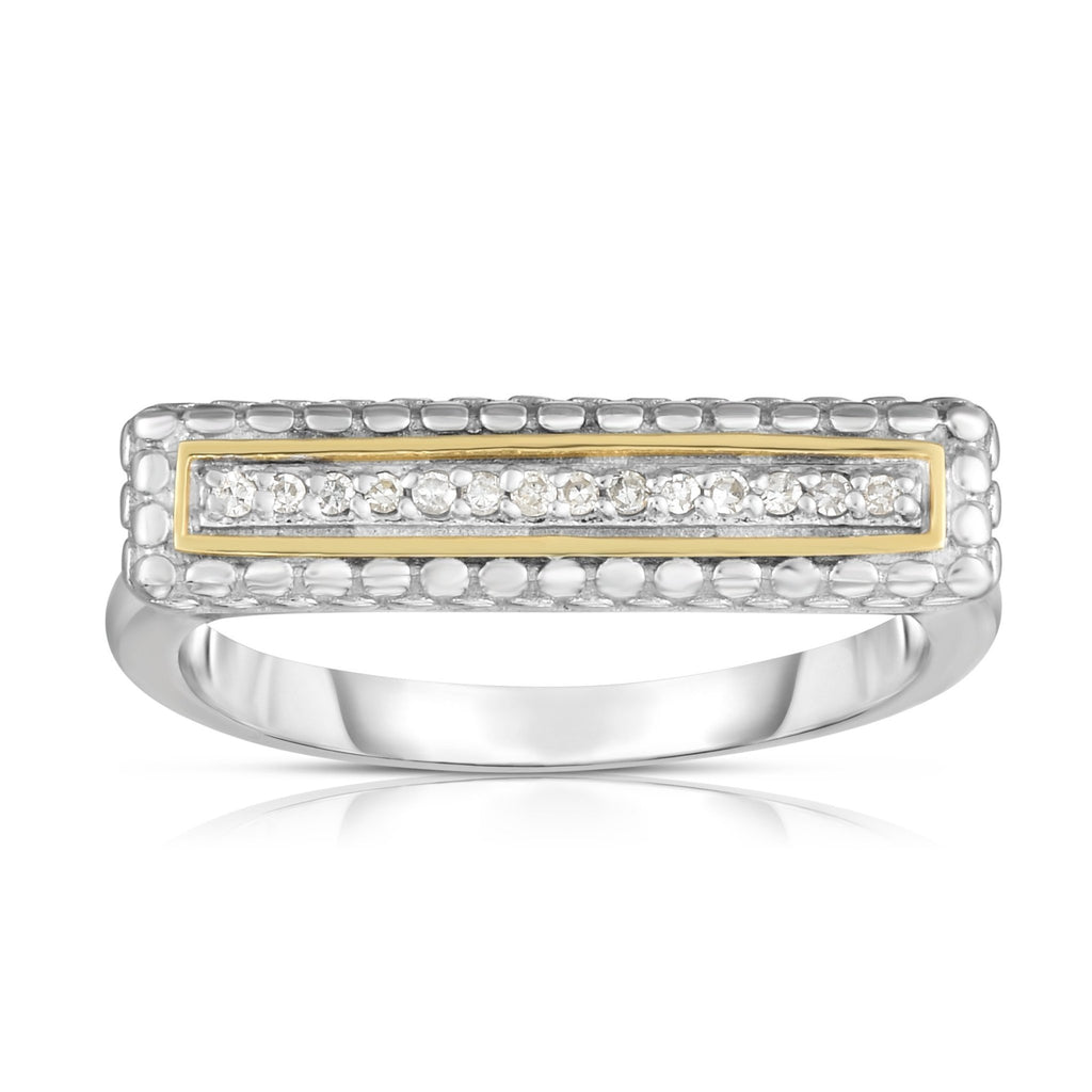 Sterling Silver & 18K Gold Bar Ring - Phillip Gavriel