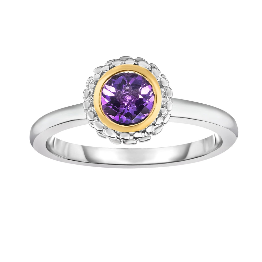 Sterling Silver & 18K Gold Popcorn Birthstone Ring - Phillip Gavriel