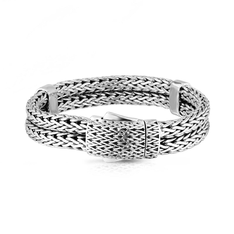 Sterling Silver Men's Double Woven Bracelet - Phillip Gavriel