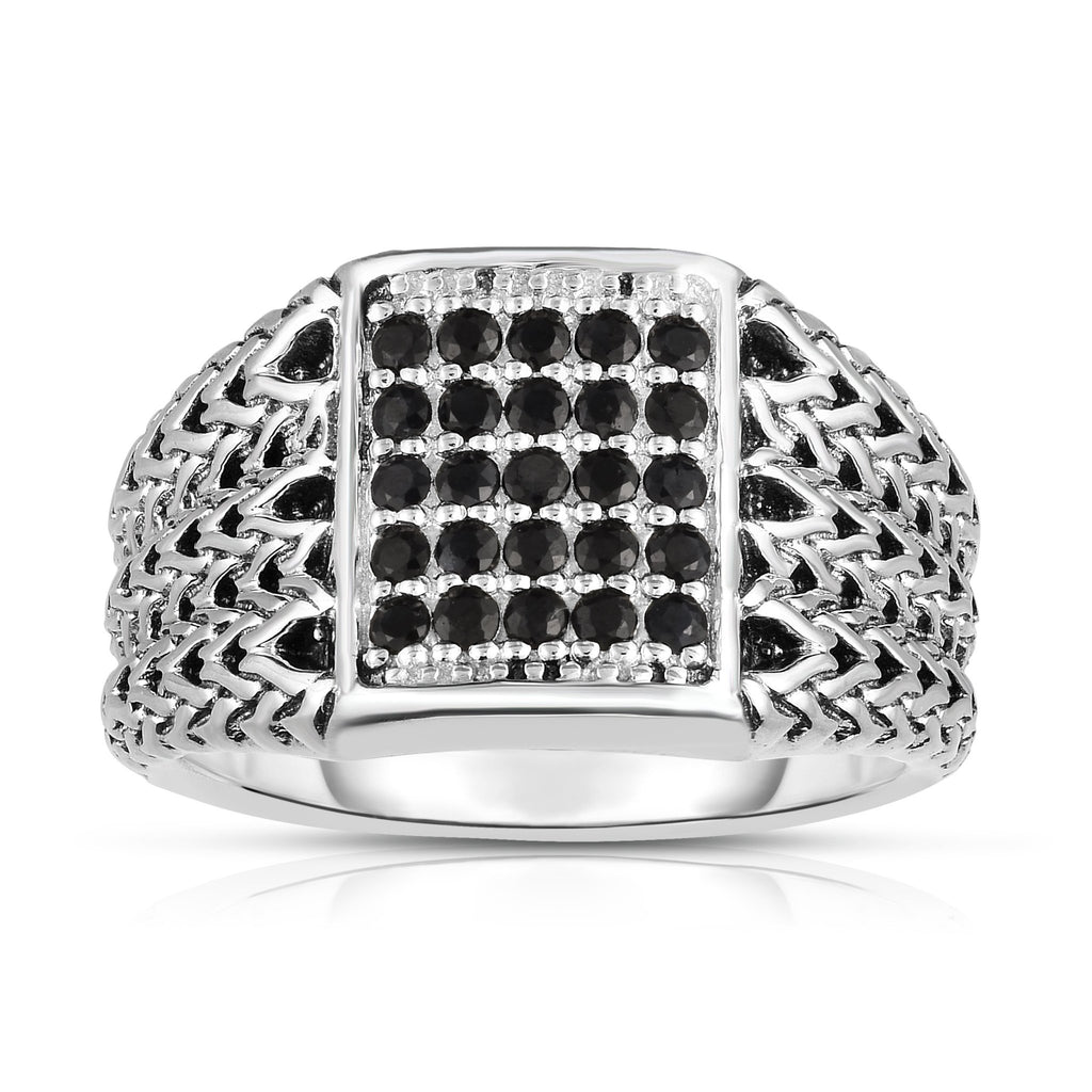 Sterling Silver Woven Signet Ring - Phillip Gavriel