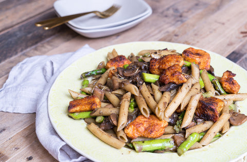 scratchDC Chicken and Mushroom Marsala w/ Asparagus, Over Penne