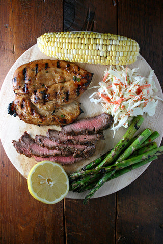 4th of July Grill Kit - Choice of Marinated Protein w/ Corn on the Cob, Grilled Asparagus and Coleslaw!