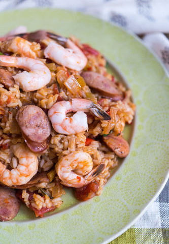 scratchDC's One Pan Creole Jambalaya w/ Andouille and Choice of Shrimp or Chicken!