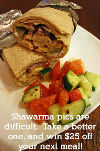 Chicken Shawarma Wraps w/ Homemade Garlic Lemon Aioli and a Fattoush Salad w/ Sumac Dressing