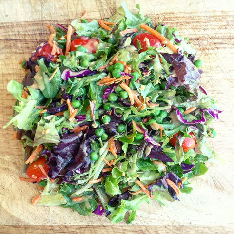 Week of June 27th - Summer Side Salad w/ a Basil Ginger Vinaigrette