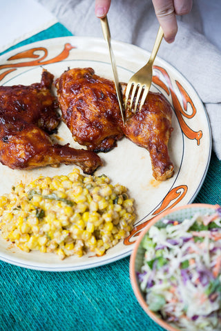scratchDC BBQ Chicken (Choice of Cut) w/ Deconstructed Mexican Street Corn & Coleslaw