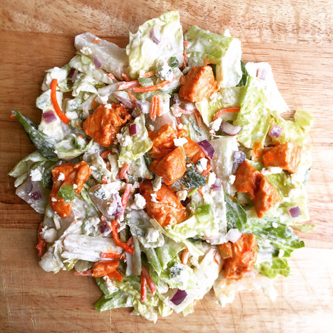 THE Buffalo Chicken Salad w/ Blue Cheese, Red Onion, Celery, Carrot and Buttermilk Ranch