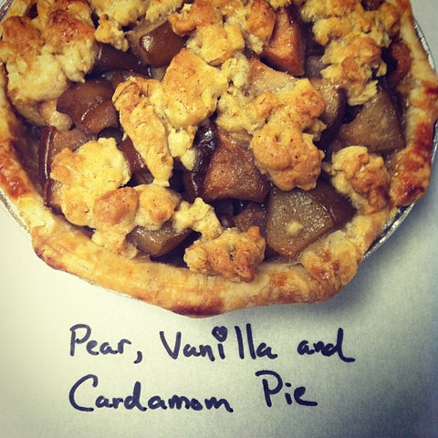 Pear Vanilla Cardamom Pie from Whisked!