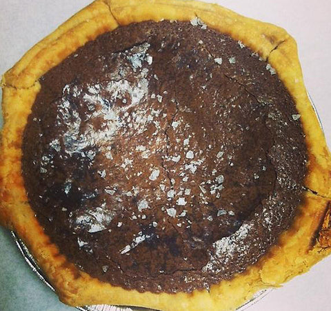 "Two Person (6"") Sea Salt Chocolate Chess Pie, from Whisked!"