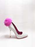 Candy Croc Pump White