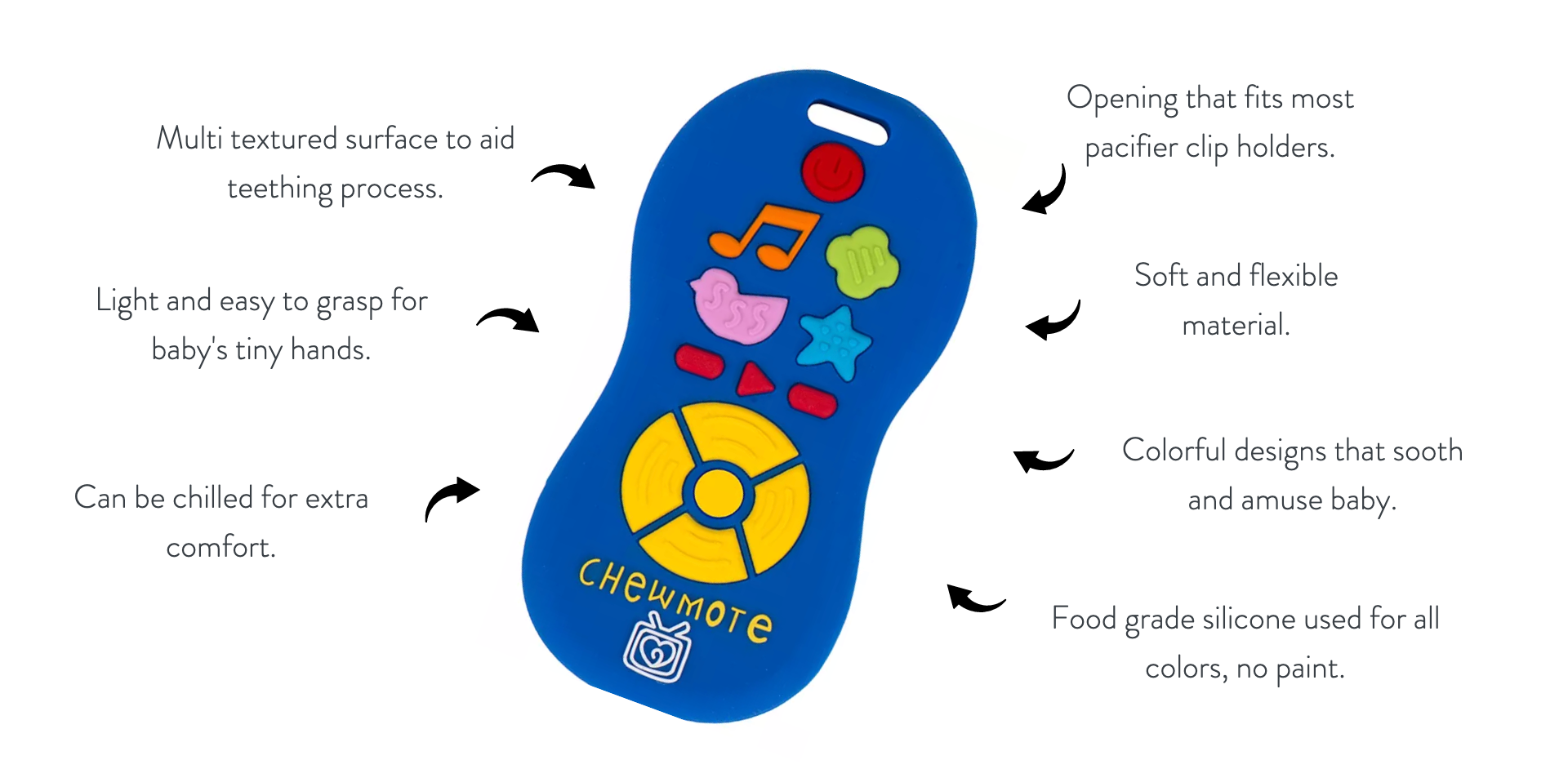 Silli Chews Exclusive Patented Technology Teething Toys