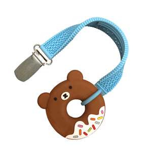 MINI BEAR DONUT TEETHER AND STRAP